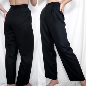 Vintage Silk Pleated High Rise Trousers
